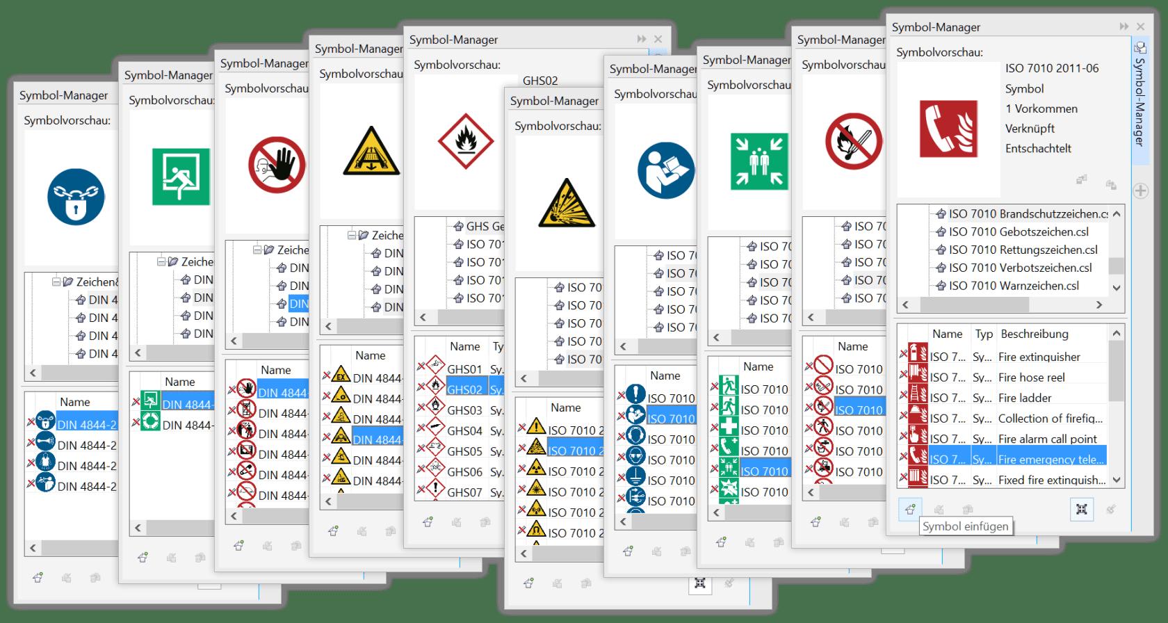 Sicherheitszeichen - CorelDRAW Symbolbibliothek