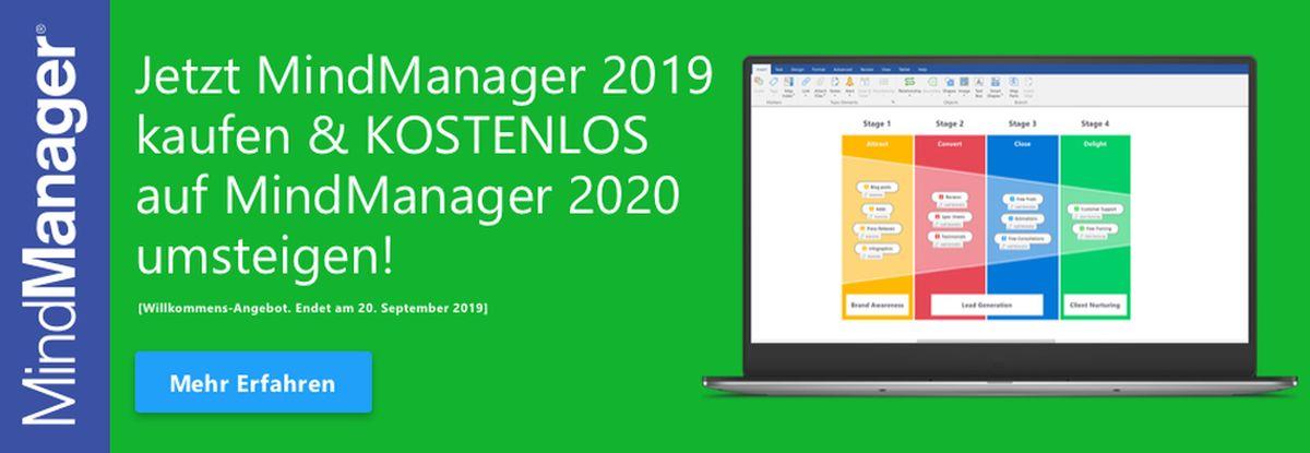 MindManager-Aktion: nächste Version 2020 sichern